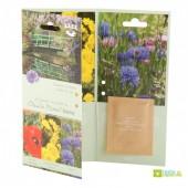 Carte 3 volets Giverny - Coquelicot-Chrysanthème-Bleuet