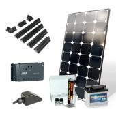 Kit solaire 200 W 220 V Premium avec batterie