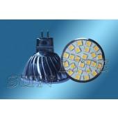 Spot LED  MR16 SMD 4W 12V blanc  chaud