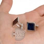 Boutons de manchette - panneau solaire carré