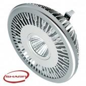 Ampoule LED 12W - COB SHARP - AR111 - Blanc Chaud
