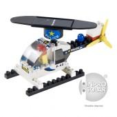 Hélicoptère de police solaire avec rotor arrondi