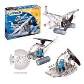 Jeu de construction solaire C74 hélicoptère, avion, hydroglisseur 300 pièces