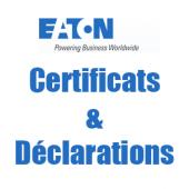 Téléchargements Certificats, déclarations EATON ISG
