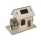 Maquette de moulin à eau solaire en bois