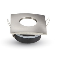 Montage pour spots LED GU10 Satin Nickel Matt Carré