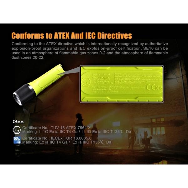 Fenix SE - lampes conformes aux directives ATEX et IEC