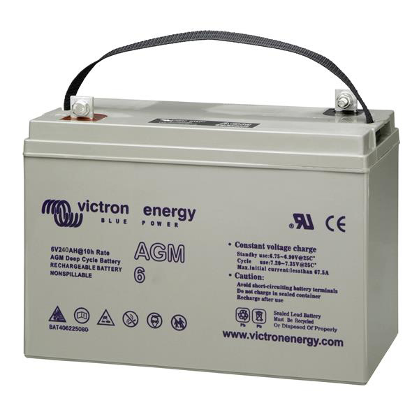 Batterie AGM Deep Cycle - 6V 240Ah Victron Energy - BAT406225080