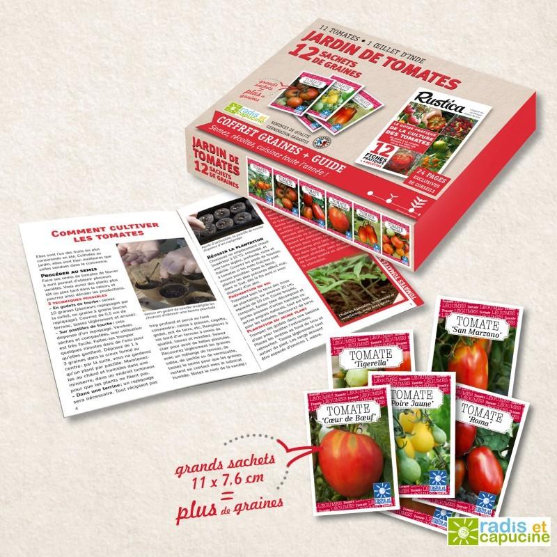 Jardin de tomates coffret 12 sachets et son guide Rustica
