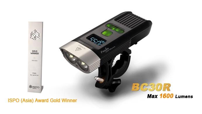 Fenix BC30R - 1600 Lumens - avec batterie interne et chargeur USB - écran OLED