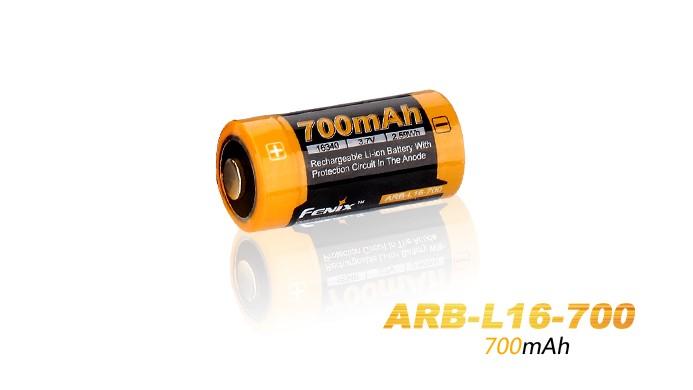 Pile rechargeable Fenix ARB-L16 - 700 mAh pour PD22,PD25, E15 édition 2016