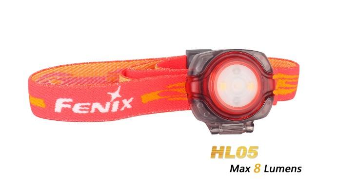 Fenix HL05 - coloris rouge - lampe frontale LED - avec piles