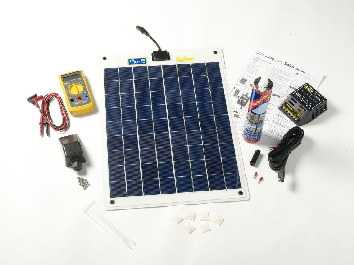 Kit solaire flexible complet 20w