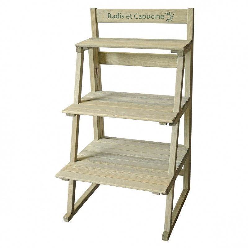 Présentoir en bois 3 étages pour plantes