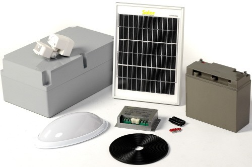 Solar bulkhead pir light - kit