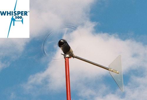 Éolienne terrestre WHISPER 500 - 3000W, (24, 48V configurable)  avec contrôleur