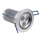 Spot LED dimmable orientable 9W 220V blanc