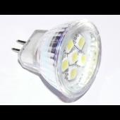 Spot LED MR11 1.2W 12V blanc