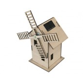 Maquette de moulin à vent solaire en bois