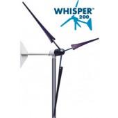 Éolienne terrestre WHISPER 200 - 1000W, 12 A, (12, 24, 48V configurable) avec contrôleur