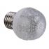 Ampoule LED E27 1,2W 220V blanc chaud