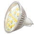 SPOT LED 3W GU5.3 / MR16 12V SMD Verre Blanc Chaud