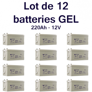 Batterie GEL Deep Cycle - 12V 220Ah Victron Energy - BAT412201100 X12