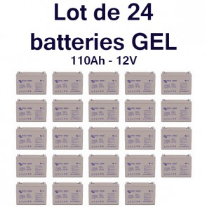 Batterie GEL Deep Cycle - 12V 110Ah Victron Energy - BAT412101100 X 24