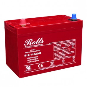 Batterie Rolls Série AGM 12V 116Ah(C100) - S12-116AGM