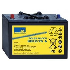 Batterie Sonnenschein Solar Block SB12/75A 12V 75Ah