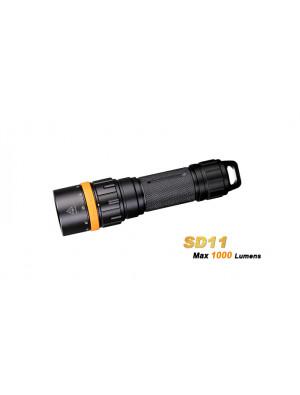 Lampe de plongée Fenix SD11 (1000 Lumens avec support caméra, appareil photo, trépied)