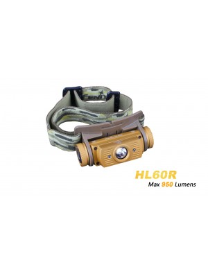 Lampe Frontale rechargeable Fenix HL60R (950 Lumens - USB avec pile)