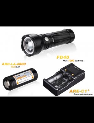 Pack Fenix FD40 Faisceau réglable - 1000 Lumens