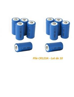 Pile CR123A (Lot de 10)