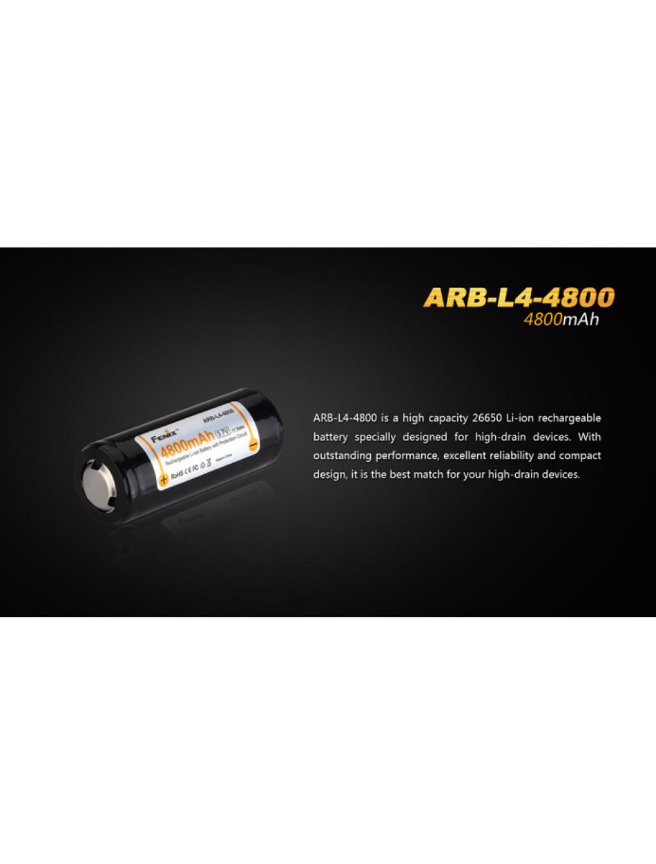 Fenix lampes de poche pd40 Batterie arb-l4 type 26650 4800 mAh Pour Chargeur are-c2