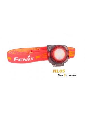 Lampe frontale LED Fenix HL05 (coloris rouge - avec piles)