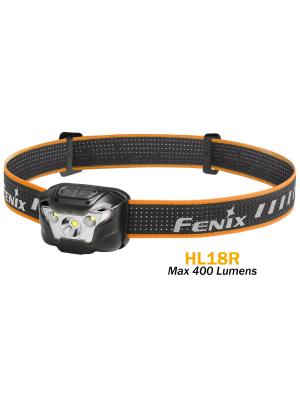 Fenix HL18R - 400 lumens jusqu'à 150H d'autonomie - rechargeable avec batterie