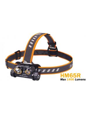 Fenix HM65R Lampe frontale à double faisceau - 1400 lumens - rechargeable batterie incluse