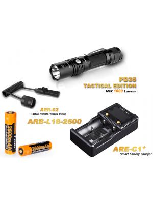 Pack Fenix PD35 Tactical édition (1000 Lumens)