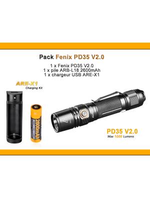 Pack Fenix FD41 rotation 360° (Faisceau réglable - 900 Lumens)