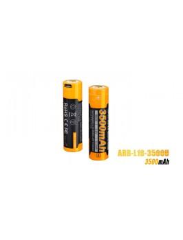 Pile rechargeable Fenix ARB-L18 - 18650 - 3500U mAh pour toutes les lampes Fenix utilisant des 18650 - rechargeable en direct