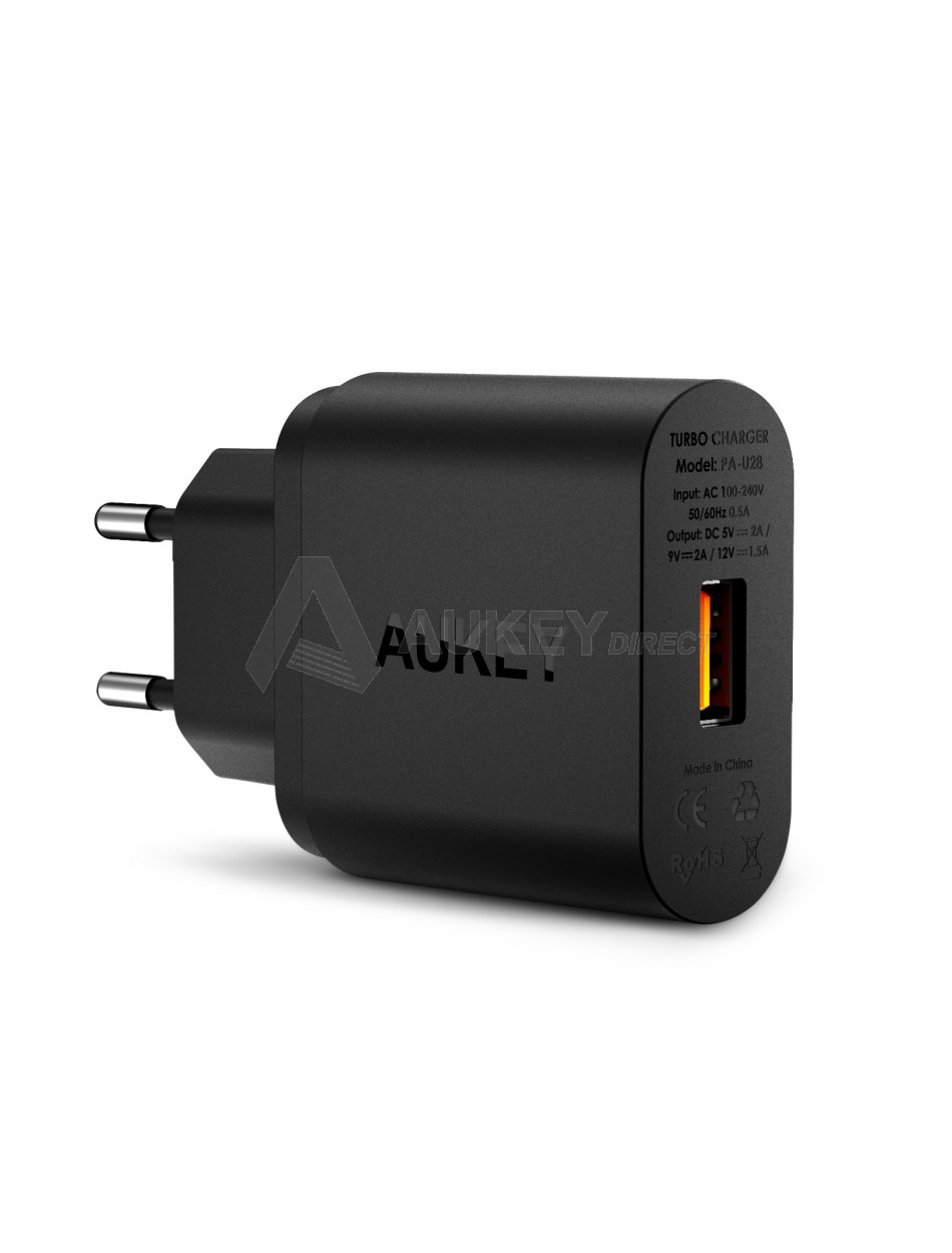 AUKEY PA-U28 wall charger Quick Charge 2.0 (Black)