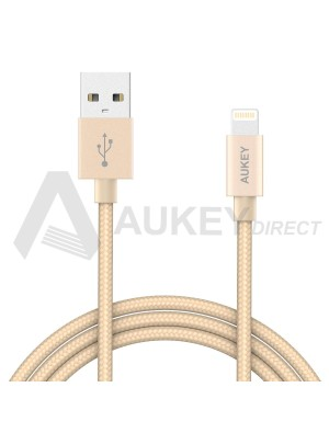 AUKEY CB-D16 Apple MFi lightning cable USB (Gold)
