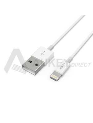 AUKEY CB-D20 Lightning cable USB (White)