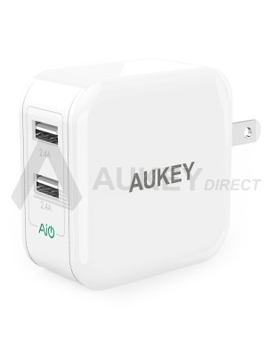 AUKEY PA-T2 wall charger 42W 3 ports Quick Charge 2.0 (White)
