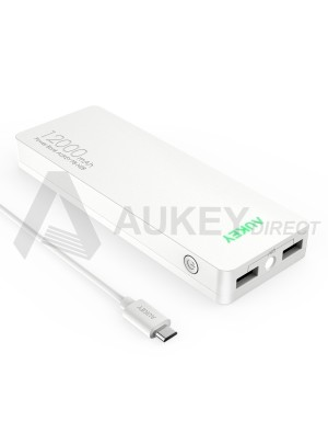 AUKEY PB-N28 Power Bank external battery AiPower 12000mAh (White)