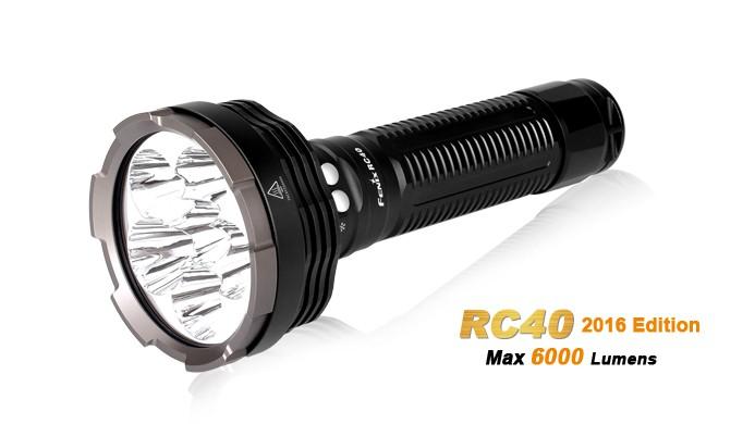 Fenix RC40 édition 2016 - 6000 Lumens - rechargeable avec pile et chargeur
