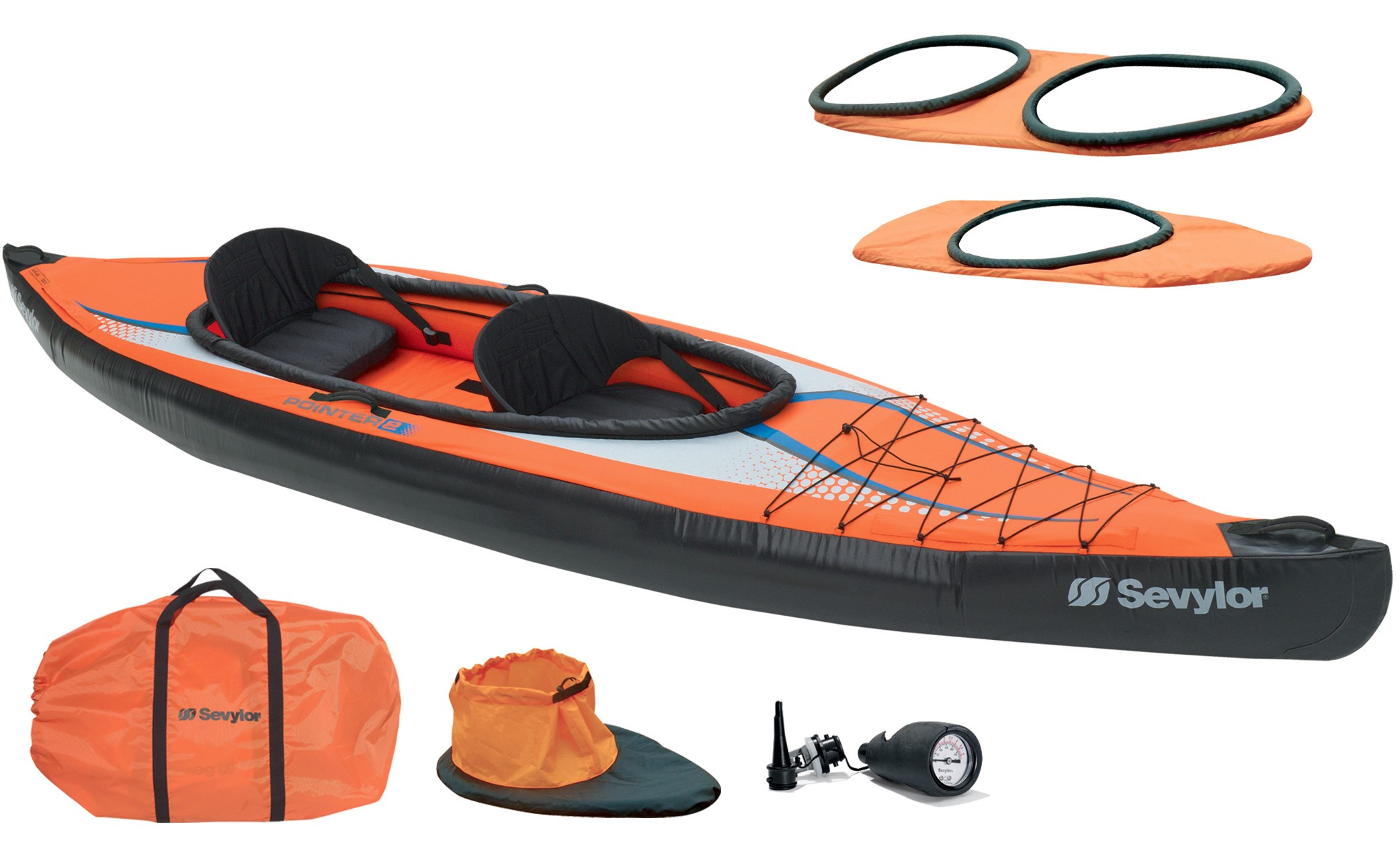 Kayak Pointer K2 biplace de mer ST6207 SEVYLOR