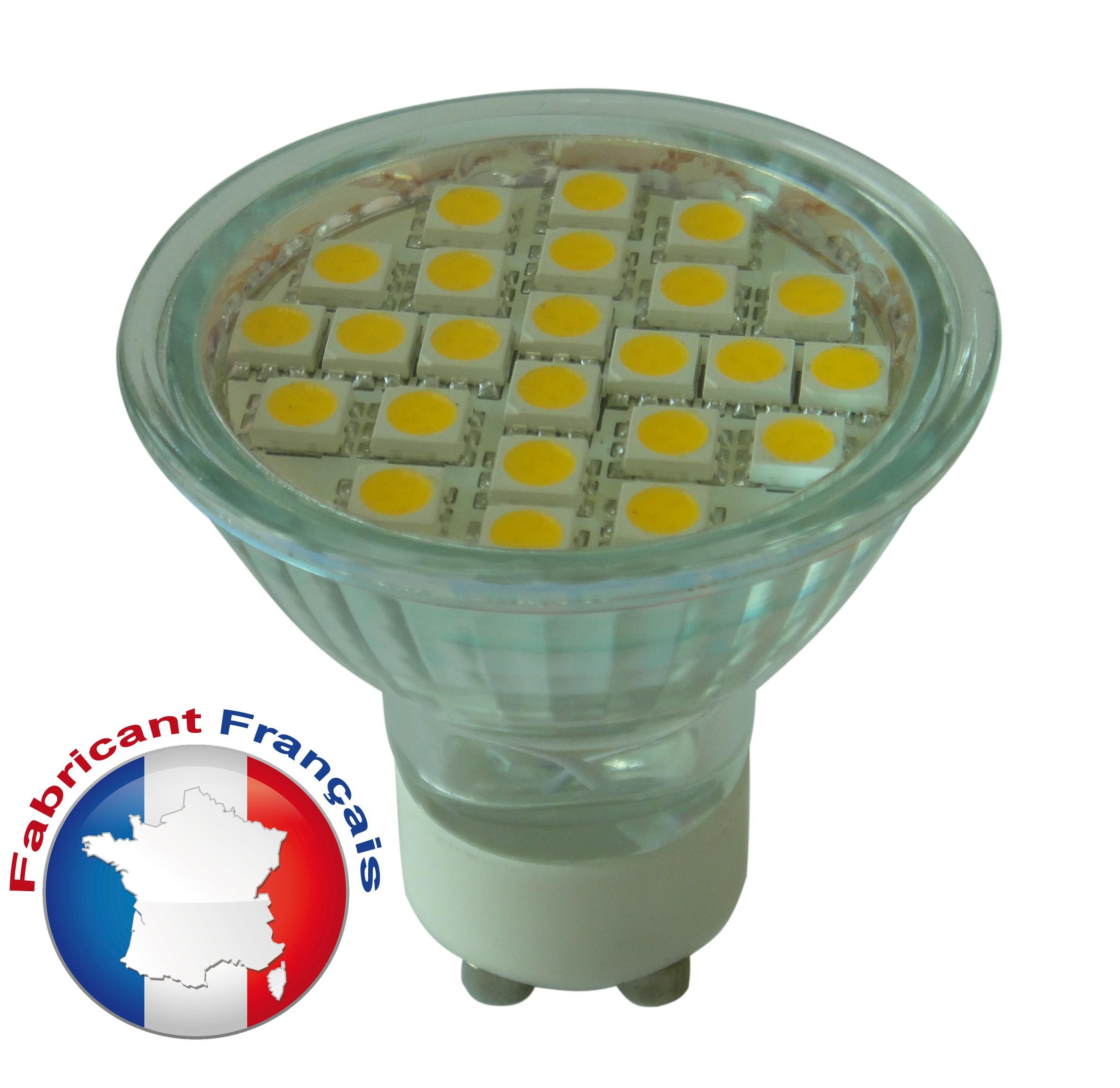 Ampoule Spot LED GU10 4,5W - 220V - Blanc chaud