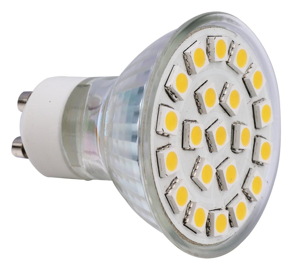 Spot LED  GU10 SMD 4.1W 220V - Blanc chaud
